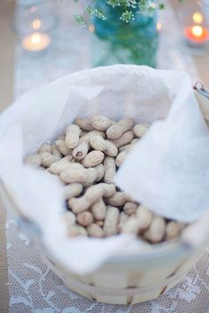 Perfect country wedding snacks for the reception tables. Especially great for an outdoor reception!
