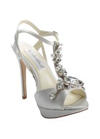 A beautifully ornamented t-strap sets this shoe apart from the others. #prom2014 #shoes #davidsbridal
