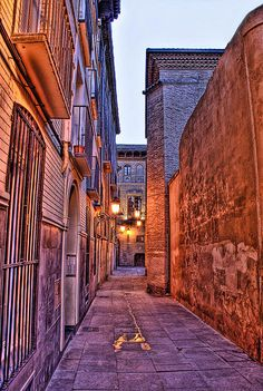 Alley of Zaragoza, Spain    www.car-booker.com   #carhire