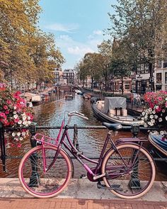 Amsterdam city The Netherlands Enjoy a bike tour across the canals of A TheList. Amsterdam Bike, Amsterdam Netherlands, Resorts, Beau Site, Bike Photography, Nature Photography, Wanderlust, Beautiful Places To Travel, Wonderful Places