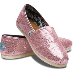 TOMS Pink Glitter for Kids 4 ($42) via Polyvore
