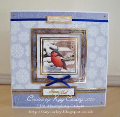 Made with Hunkydory's Festive Birds of Britain collection
