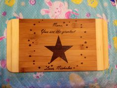A letter from YOU cutting board  on Etsy, $25.00 CAD