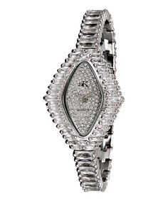 Another great find on #zulily! Silver 'Princess' Diamond Bracelet Watch #zulilyfinds
