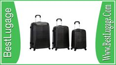 Rockland 3 Piece Vision Polycarbonate Abs Luggage Set Review Best Travel Luggage, Buy Luggage, Luggage Bags, Travel Bags, Luggage Online, Air Travel, Cheap Luggage Sets, Metal Detector Reviews, Cute Suitcases