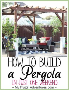 So in August of 2014 we wound up building a pergola for our back yard. I thought I would post details of what we did, the cost for the project and how it has held up for us.  Ahem.  I meant to post…: