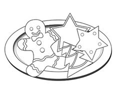 22++ Christmas cookies clipart black and white info