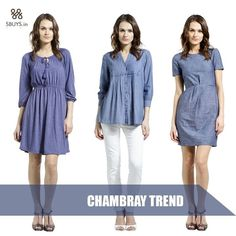 #Chambray trend fashion for the #coolest look ...... Explore >>> http://www.sbuys.in #women #tops #fashion
