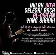 Doa selesai baca Al Qur'an Islamic Love Quotes, Muslim Quotes, Islamic Inspirational Quotes, Religious Quotes, Hijrah Islam, Doa Islam, Reminder Quotes, Self Reminder, Book Quotes