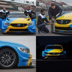 Unveiling the #Volvo S60 #Polestar #WTCC Art Car by #BernadotteKylberg for the 2016 #FOS, read more at: polestar.com