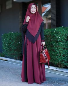 Hijab Gown, Hijab Style Dress, Hijab Chic, Casual Hijab Outfit, Islamic Fashion, Muslim Fashion, Modest Fashion, Fashion Outfits, Womens Fashion