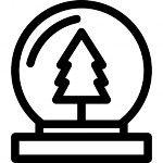 Navidad globo de nieve con el árbol