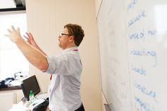 Iwan, master of hand gestures! #WEBridge #Teacher #English