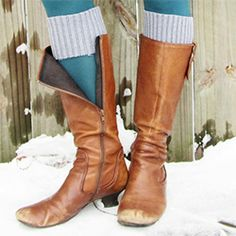 Make your own boot cuffs (no hot + itchy socks all the way up!) using an old sweater. so clever+cute!