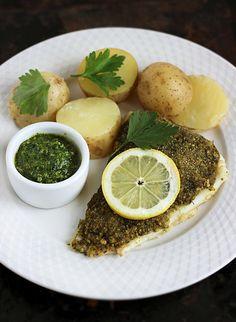 Filet z dorsza z pietruszkową panierką Baked Cod, Hummus, Seafood, The Best, Food Porn, Baking, Dinner, Ethnic Recipes, Bread Making