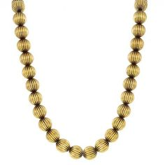 14k yellow gold bead necklace 1