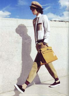 Arizona Muse in Boy.   by Band of Outsiders