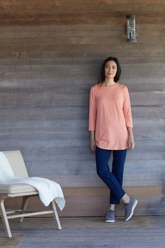 2b4378a5f5af Soft and simple (featuring J.Jill's Pure Jill Crew-Neck Shirttail Tunic)