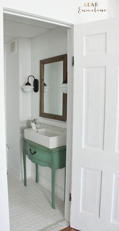 How to remodel a narrow half bathroom!