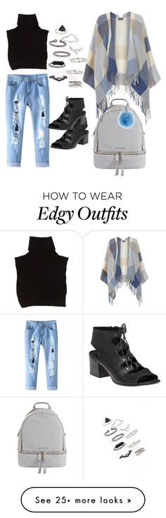 """Edgy-Chic"" by shalyse on Polyvore featuring Topshop, 275 Central, Marc Jacobs, MICHAEL Michael Kors, Fendi, Dorothy Perkins and kimonos"