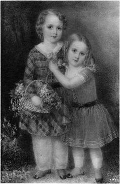 """Ann Hall (1792‒1863), """"John and Prescott Ward,"""" 1845. Miniature on ivory, 7 1/4 x 5 in. Photographed in a private collection in New York City. The Frick Collection / Frick Art Reference Library Photoarchive. #femaleartist #fricklibrary #miniatures #womanartists"""