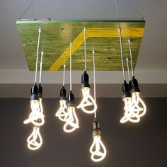 The Summertime Americana Chandelier is a handmade hanging light fixture from Urban Chandy
