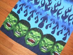 MENS medium MARVEL s/s INCREDIBLE HULK bowling SHIRT polyester SILKY #Marvel #ButtonFront