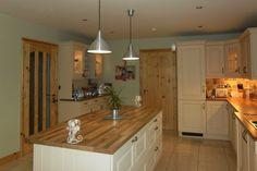 Wood on island top. Ikea, Kitchen Cabinets, Cottage, Wood, Kitchens, Magazine, Island, Future, Country