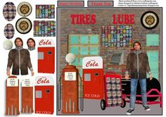 Tires Lube Service Card Topper Decoupage on Craftsuprint - Add To Basket!