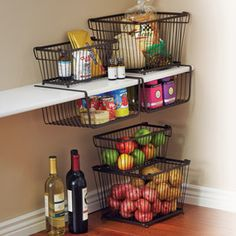 York Stackable Pantry Storage Basket