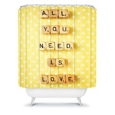 Happee Monkee All You Need Is Love 1 Shower Curtain