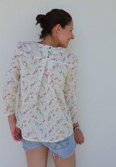 Tutoriel – Dessine moi un patron Elisabeth, Floral Tops, Women, Diy, Fashion, Poplin, Needlework, Blouses, Patterns