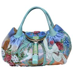 Extremely Rare FENDI Wisteria Spy Handbag  Fashion Art '06 Limited Edition Mint | From a collection of rare vintage tote bags at https://www.1stdibs.com/fashion/handbags-purses-bags/tote-bags/
