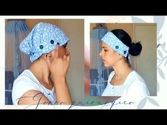 Gorro quirurgico u otros oficios. sin patron y fácil. (Surgical cap) - YouTube Bandanas, Surgical Caps, Couture, Crochet Hats, Videos, Sewing, Fashion, Scrub Hats, Pattern Sewing