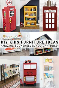 Looking for DIY furniture ideas for kids spaces? This post shares amazing DIYs for kids beds play rooms storage outdoor play and more! Kids Craft Tables, Kid Table, Diy Projects For Kids, Diy For Kids, Modern Toy Boxes, Indoor Activities For Kids, Summer Activities, Family Activities, Diy Kids Furniture