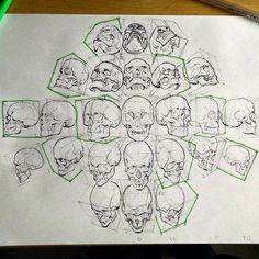 25 Trendy ideas for drawing skull anatomy character design Skull Reference, Art Reference Poses, Drawing Reference, Hand Reference, Anatomy Reference, Drawing Sketches, Art Drawings, Zombie Drawings, Skeleton Drawings