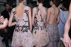 Giorgio Armani Spring 2015 RTW – Backstage – Vogue