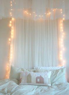 Ideas Diy Headboard For Girls Kids Fairy Lights Gif Design, My New Room, My Room, Girl Room, Dream Bedroom, Girls Bedroom, Fairy Bedroom, Bedrooms, Bedroom Lighting