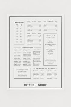 Poster - White/Kitchen guide - Home All | H&M GB Carte Visa, Embossed Seal, Home Interior Accessories, Interior Design, H&m Pt, Kitchen Posters, Gift Card Shop, Forest Stewardship Council, Frames