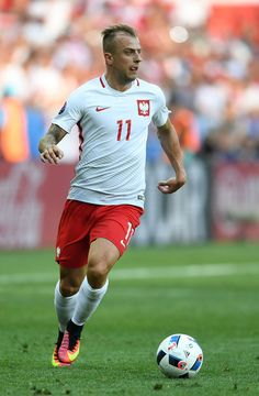 Kamil Grosicki of Poland in action during the UEFA EURO 2016 Group C match between Poland and Northern Ireland at Allianz Riviera Stadium on June 12, 2016 in Nice, France.