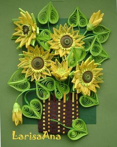 Sunflowers by Larissa Litvinenko (040411) with great pictures showing how the piece was assembled