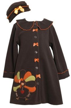 Bonnie Jean Girls Turkey Thanksgiving Fall Winter Coat & Hat Set, Brown, Size 5 by Bonnie JeanTake for me to see Bonnie J