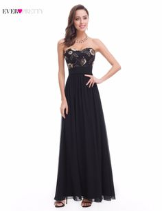 >> Click to Buy << Long Evening Dress Ever Pretty XXKB06070PEC Sleeveless Ruched Bust Black Woman  Maxi Chiffon 2017 Fast Shipping Vestidos Dresses #Affiliate
