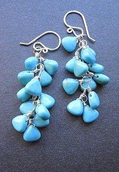 ModGlam 118 Turquoise drop earrings
