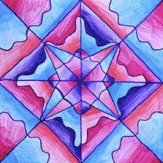 Drawings in radial symmetry (Arte a Scuola) Drawing Projects, Art Projects, Color Art Lessons, Symmetry Art, 8th Grade Art, Balance Art, Value In Art, Jr Art, Math Art