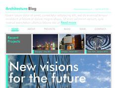 Moonfruit Template - Architect #website #design
