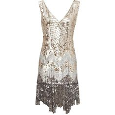 Sequin Flapper Dress found on Polyvore