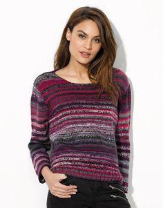 Heft Damen Urban 91 Herbst / Winter | 40: Damen Pullover | Grau-Lila-Helllila