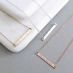 Skinny Reversible Personalised Bar Necklace | Staxx