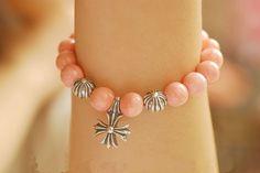 Chrome Hearts Coral Beads Cross Pendant Bracelet Online